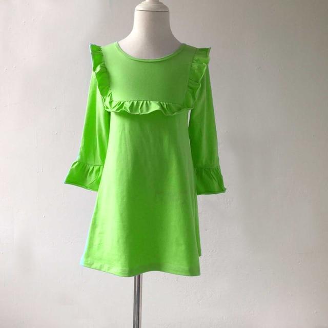 Blank Ruffle Dresses