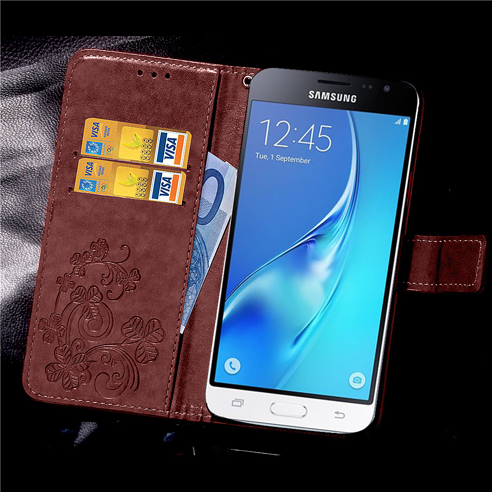 for samsung j3 case pu leather flip galaxy j3 2016 case cover for coque samsung galaxy j3 2016. Black Bedroom Furniture Sets. Home Design Ideas