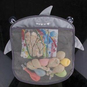 Image 2 - Dessin animé tenture murale sac de rangement sac tricoté bébé filet de bain jouet panier organisateur