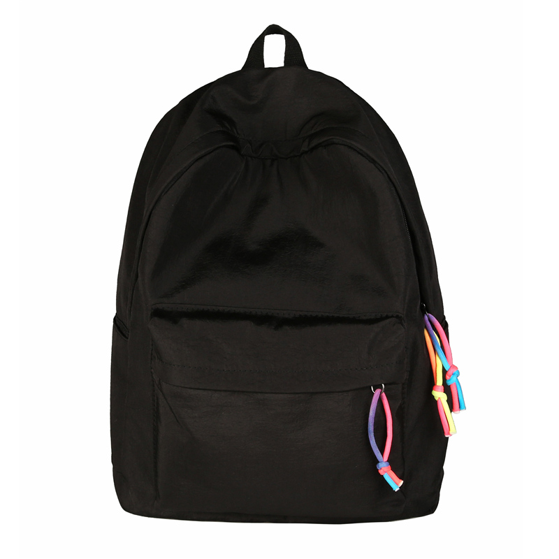 The new lightweight nylon backpack female student bag all-match Harajuku simple leisure travel backpack