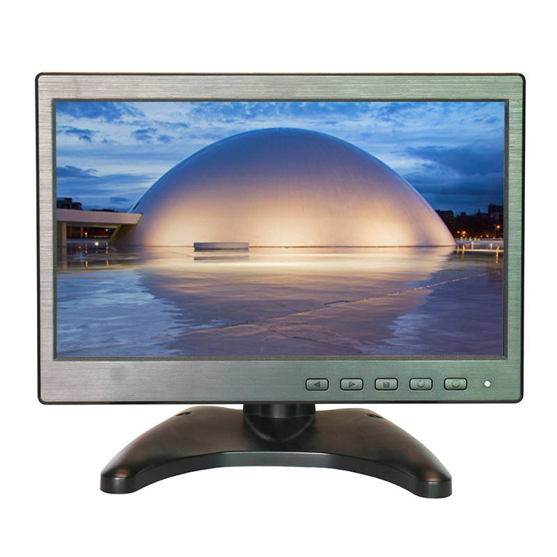 Zhixianda 10.1 Inch CCTV Monitor TFT LED Screen Monitor Security Monitor 1024*600 with VGA/AV/HDMI/USB/BNC Interface 3 5 inch tft led audio video security tester cctv camera monitor