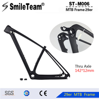 SmileTeam China Cheap Carbon Frame MTB 29er Disc Mount 3K Glossy Finish 17 And 19 For