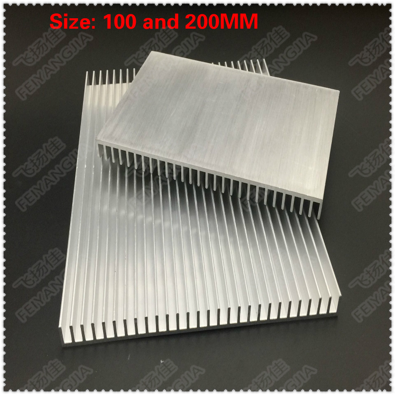 Купить с кэшбэком 2PCS 100x150x13mm radiator Aluminum heatsink Extruded heat sink for LED Electronic heat dissipation cooling cooler
