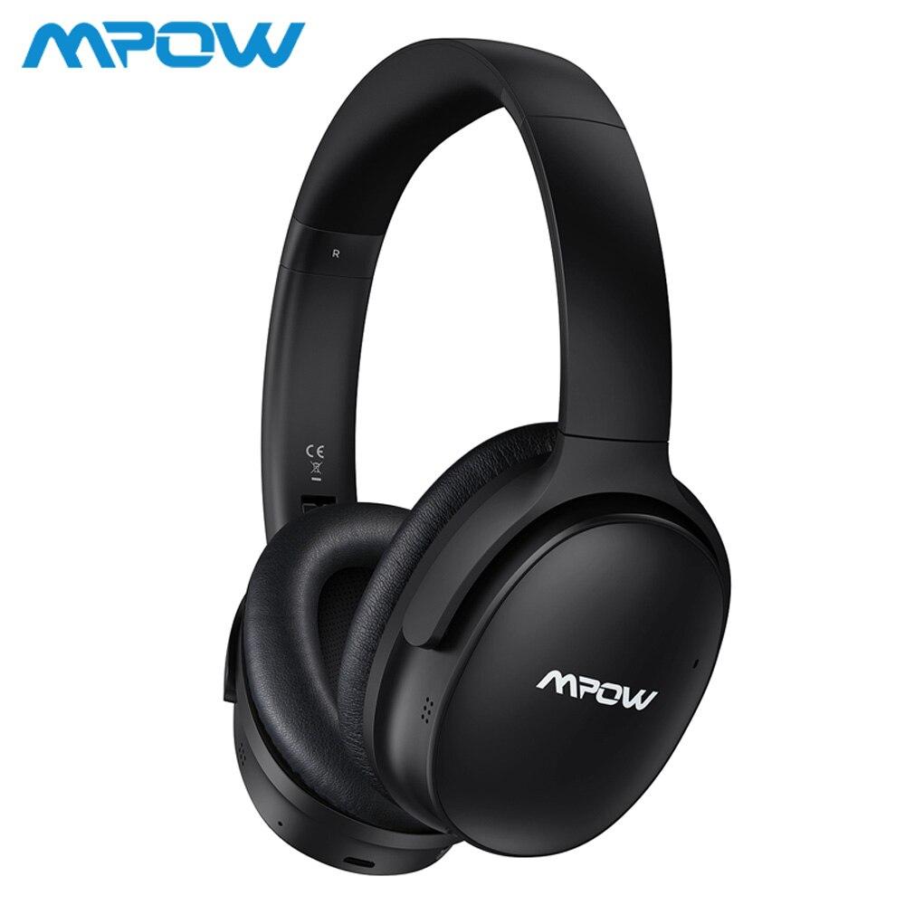 Mpow H10 a amélioré le bruit actif annulant le casque sans fil de Bluetooth 30 H jouant le temps avec le micro pour l'iphone Xs Samsung Xiaomi