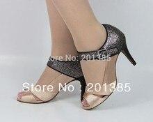 Women Flesh Satin Glitter LATIN Dancing Shoes Ballroom Shoes Salsa Dance Shoes Tango Dance Shoes Size