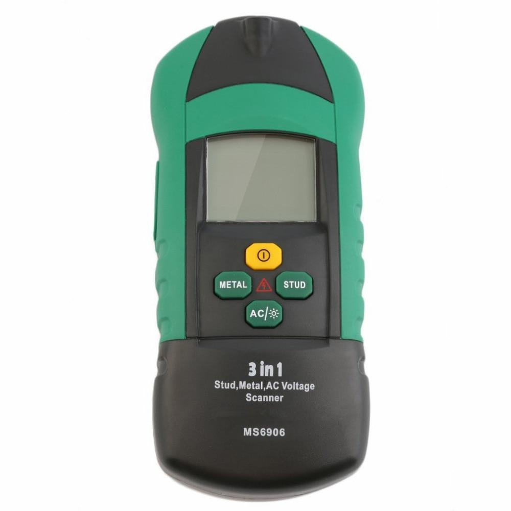 Hot Sale Professional MS6906 3in1 Multi-function Handheld Metal AC Voltage Scanner Detector Portable Thickness Gauge Wood Finder