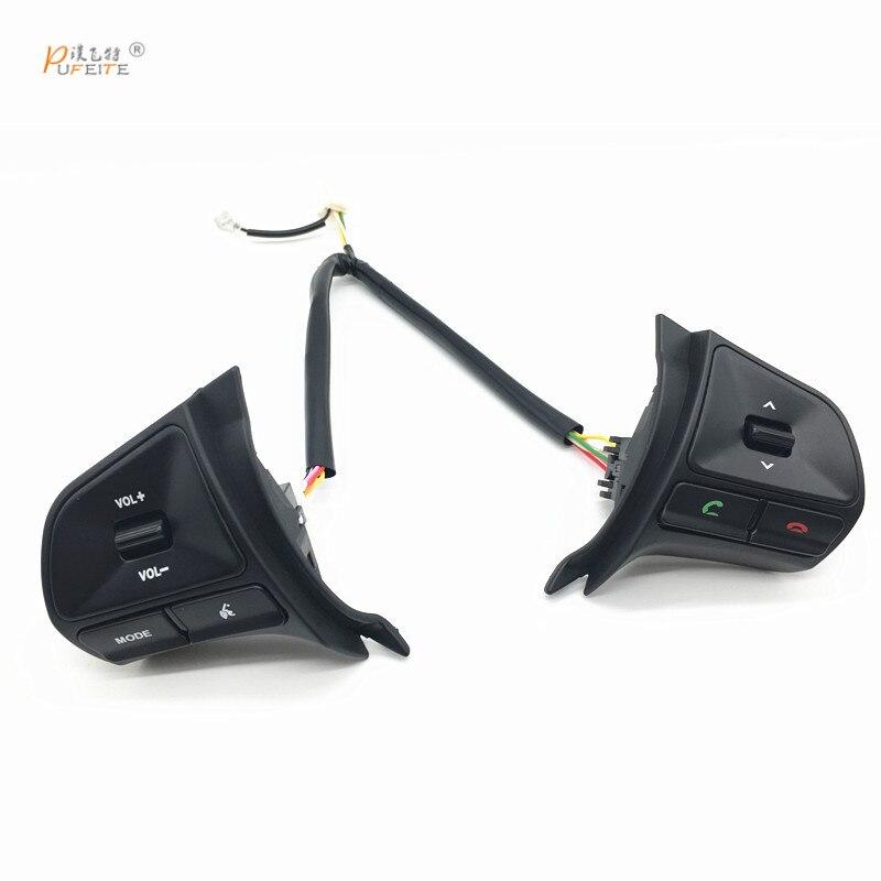 Multi-funktion Control Bluetooth Musik Audio Knöpfe gelten für KIA K2 RIO Auto Lenkrad Schalter zubehör