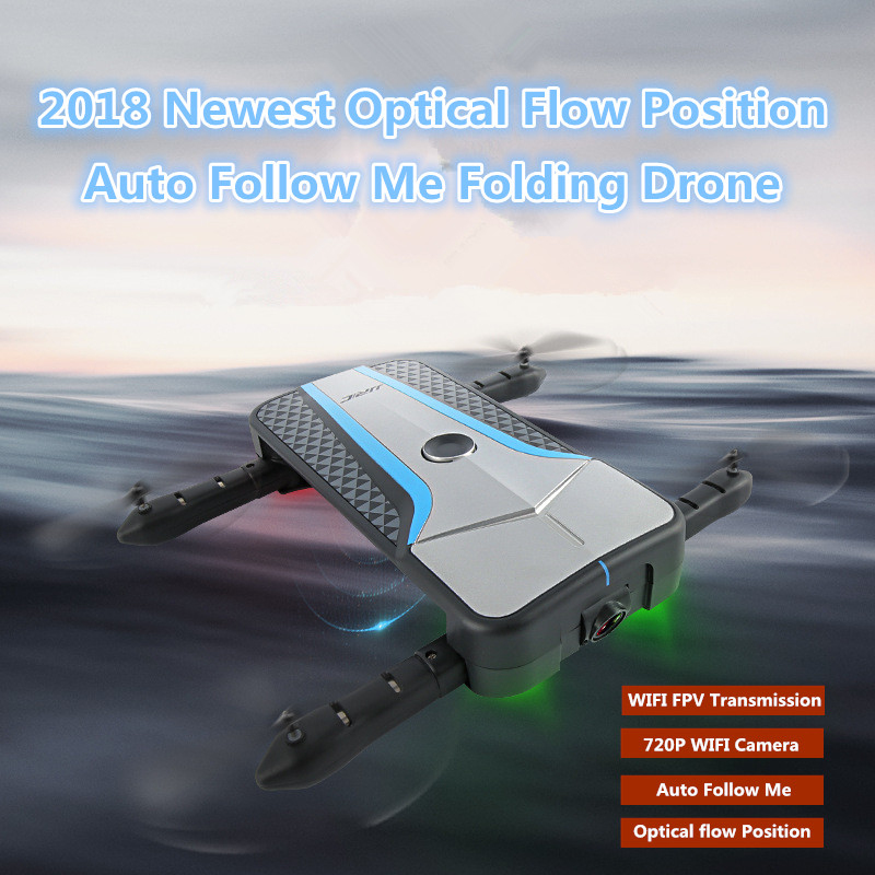 WIFI FPV foldable Racing rc drone follow me optical flow position APP control selfie RC quadcopter with 720P camera VS X183 E58 newest apple shape foldable wifi fpv rc drone rc130 2 4g apple quadcopter with 6axis gryo with 720p wifi hd camera rc drones