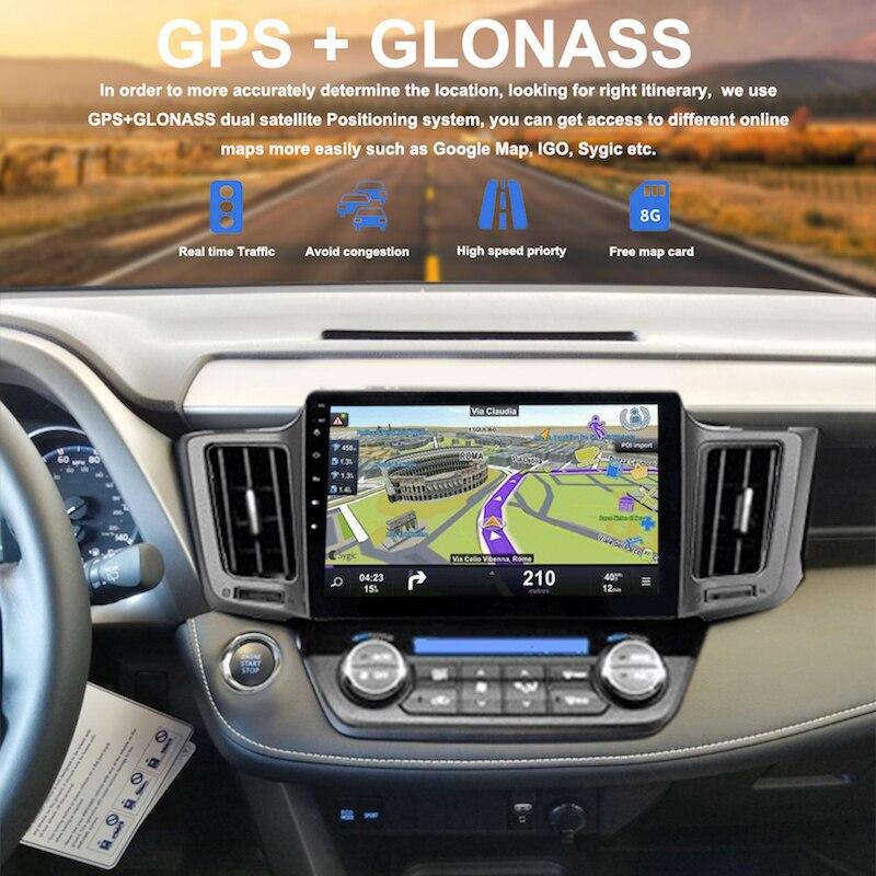 """10,2 """"ips Android 8.0 1 Din Auto Radio Für Toyota Rav4 Multimedia 2014 2015 2016 2017 Autoradio Octa Core 4g 32g Wifi Navigation Spezieller Kauf"""