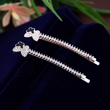 New Arrival Fashion Crystal Butterfly Hair pins Barrette For Girls Hair Jewelry Women Rhinestone Hair Clips