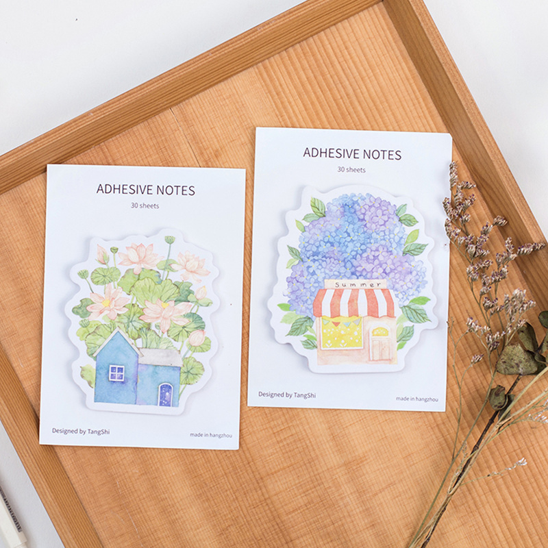 40 pcs/Lot garden sticky note Flower house post memo pad bookmark Office planner agenda stickers School supplies FM702