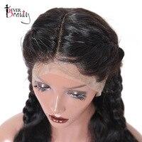 13x6 глубокий часть Синтетические волосы на кружеве человеческих волос 150% плотность Бразильский объемной волны Синтетические волосы на круж