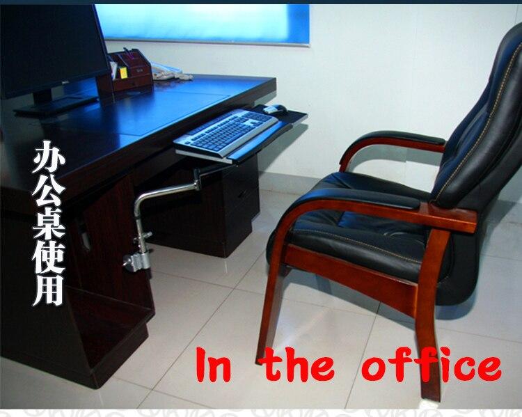 OK plateau chevet moniteur clavier titulaire pliant 360 degrés Rotation libre levage pivotant inclinaison PC montage bureau bureau bord serrage