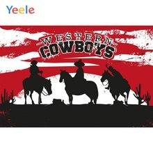 Фон для фотосъемки с изображением лошадей и мальчиков