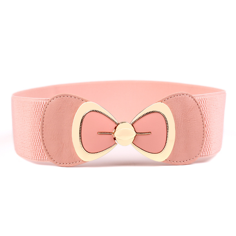 KAWEIDA Designer Belts High Quality Women Fashion 2019 Ladies Bow Wide Knitting Elastic Cummerbunds Waist Belt Luxury Ceinture