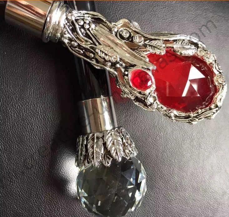 Антигром стекловолокна 75 T стальной сплав ветрозащитный прямой и складной Анти-УФ подарок кристалл мяч зонтик & Реклама рубиновый зонтик