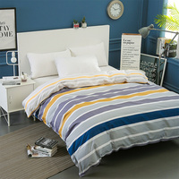 Modern Simple Stripe Duvet Cover Twin Full Queen King Size Comforter Cover 1Pc 100 Cotton Quilt