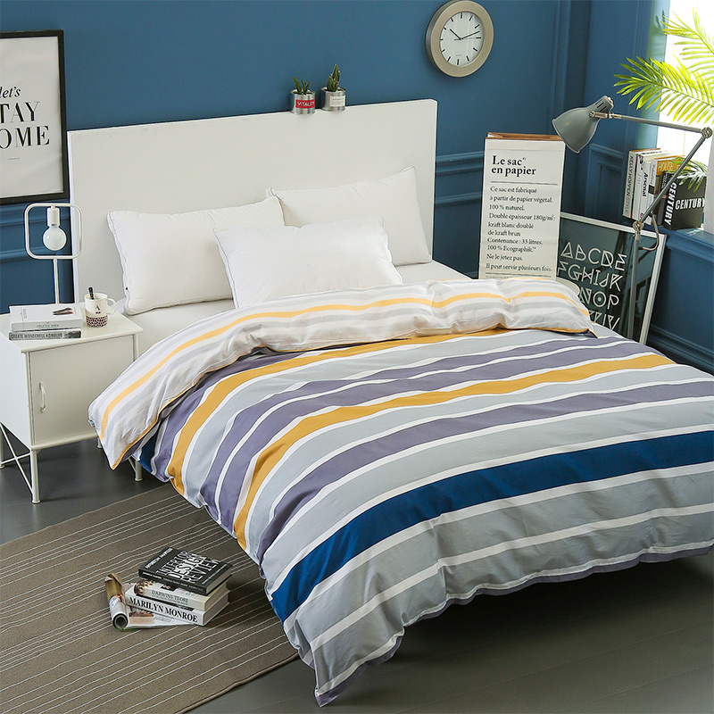 Modern Simple Stripe Duvet Cover Twin Full Queen King Size Comforter Cover 1Pc 100% Cotton Quilt Cover Single Double Bed Linen