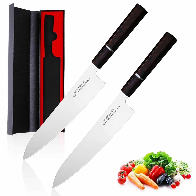 มีดครัว 9 นิ้ว Professional ญี่ปุ่นมีดเชฟ VG10 สูงเหล็กคาร์บอนผักเนื้อปลามีดสำหรับ Home-ใน มีดครัว จาก บ้านและสวน บน   1