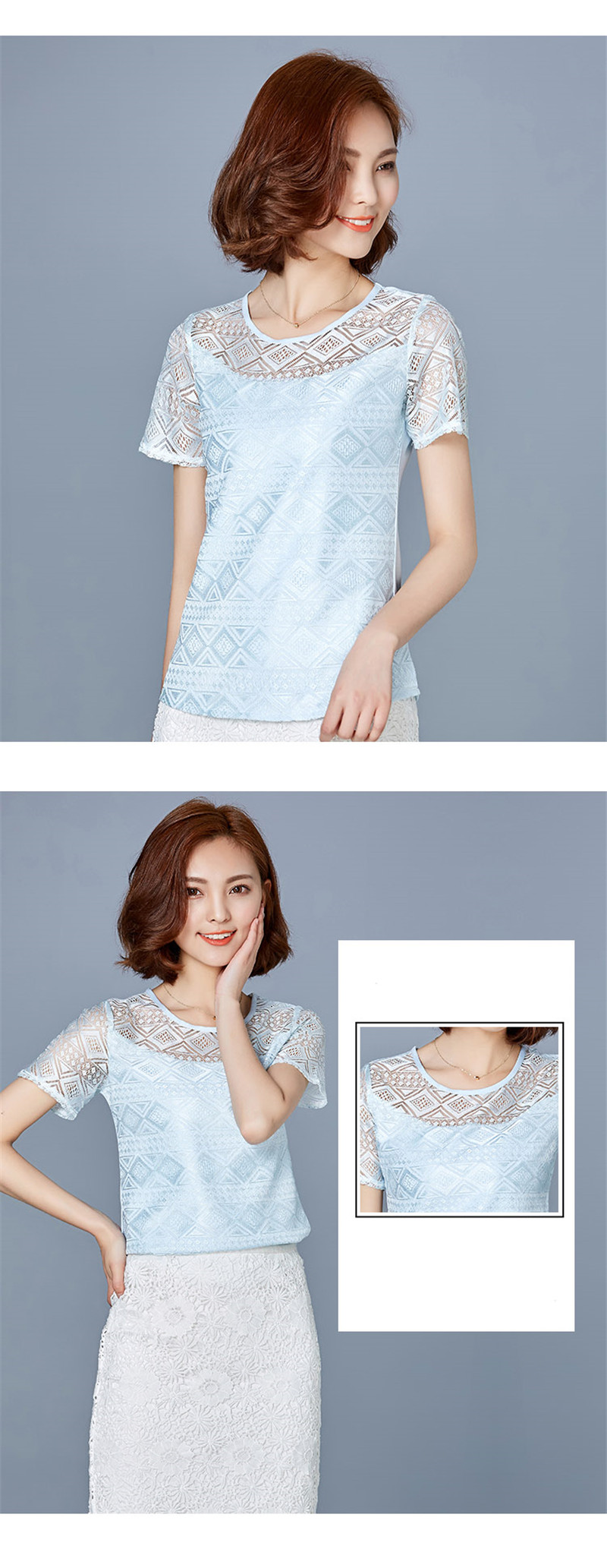 HTB15bRfPFXXXXXCXpXXq6xXFXXXK - New women tops lace chiffon blouse korean office female clothing