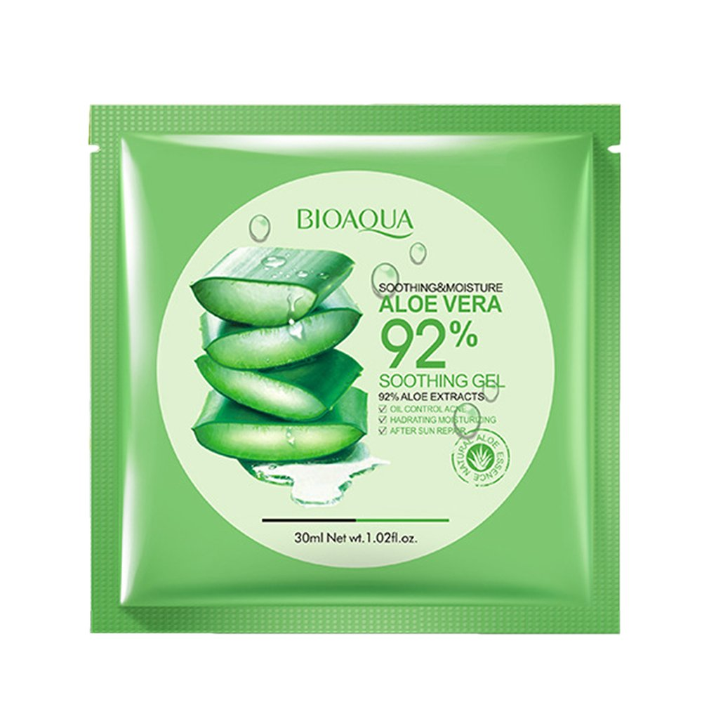 1pc/16pcs Natural Aloe Vera Gel Facial Mask Deep Cleaning Moisturizing Oil Control Anti-Wrinkle Shrink Pore Facial Mask