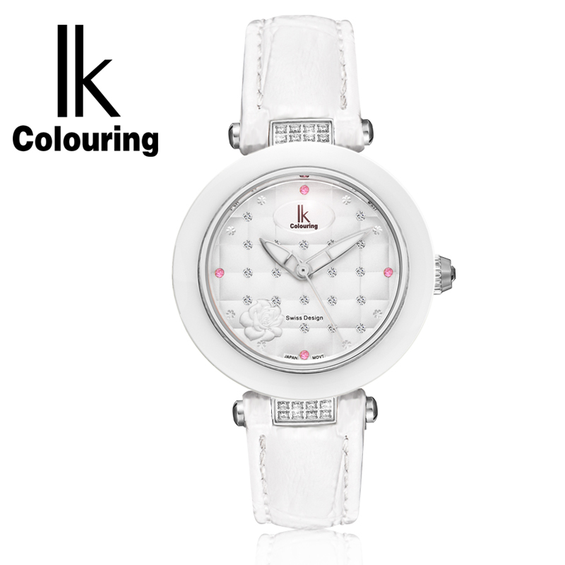 IK ceramic quartz watch fashion casual waterproof Ladies Watch Strap student table female concept of vortex female student individuality creative watch han edition contracted fashion female table