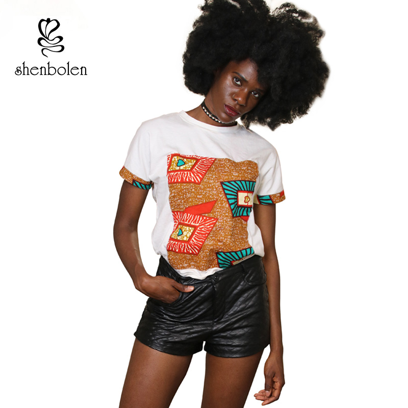 Qadınlar üçün Afrika paltarları Yay Moda Pambıq Çap batik - Milli geyimlər - Fotoqrafiya 1