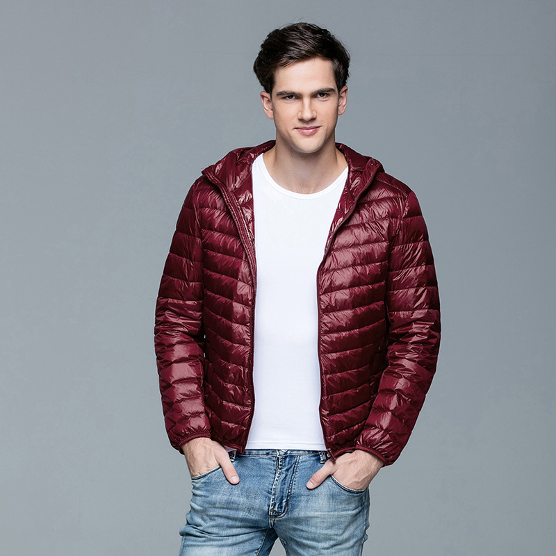 47057e4b08015 2016 más nuevos hombres invierno 100% pato Abrigos de plumas ropa de abrigo  moda chaqueta cuello mao manga larga chaqueta ocasional del envío libre