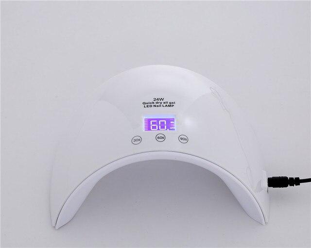 Fashion Machine Electronic 24W Rainbow Shaped Nail Dryer UV Lamp ...