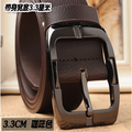 Luxury Strap Male Belts For Men Cowboy Male Belt Imitation Leather Quality Alloy Pin Buckle Men Wide Belt
