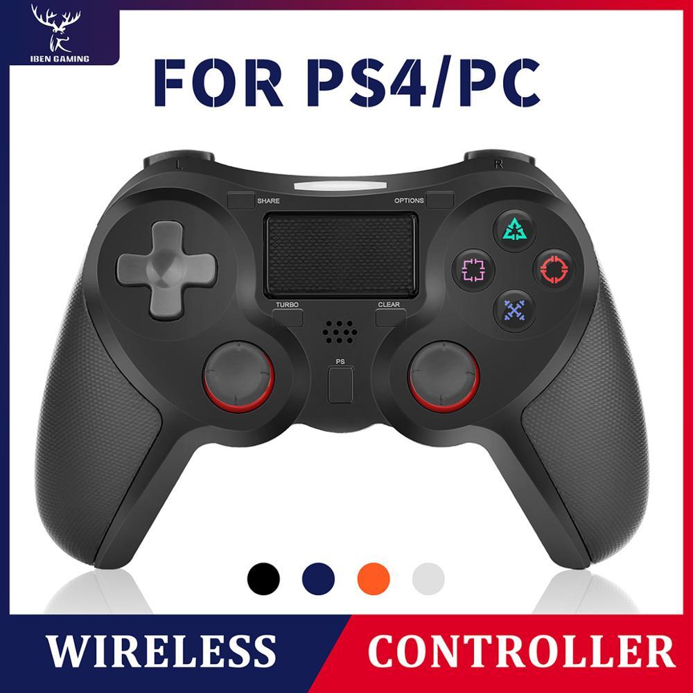 Contrôleur de jeu sans fil Bluetooth iBen manette de jeu pour Console de Vibration PS4 DualShock