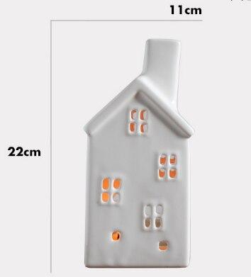 Handmade Vintage Porcelain Christmas House Candle Holder Hollow Crackle Glaze Ceramic Candlestick Creative Home Decor