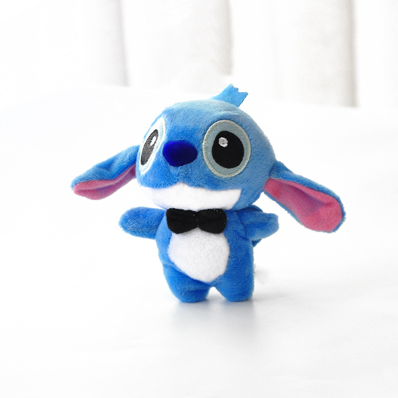 1pcs High Quanlity Kawaii Stitch Plush Doll Toys Anime 10cm Stich Plush Toys Keychain For Children Kids Birthday Gift