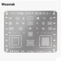 Wozniak High-quality Stainless Steel Net Planting Tin For Iphone 5s 6 6p 7 8g 8p 11 11pro  CPU A10 Plate Network Ferramentas