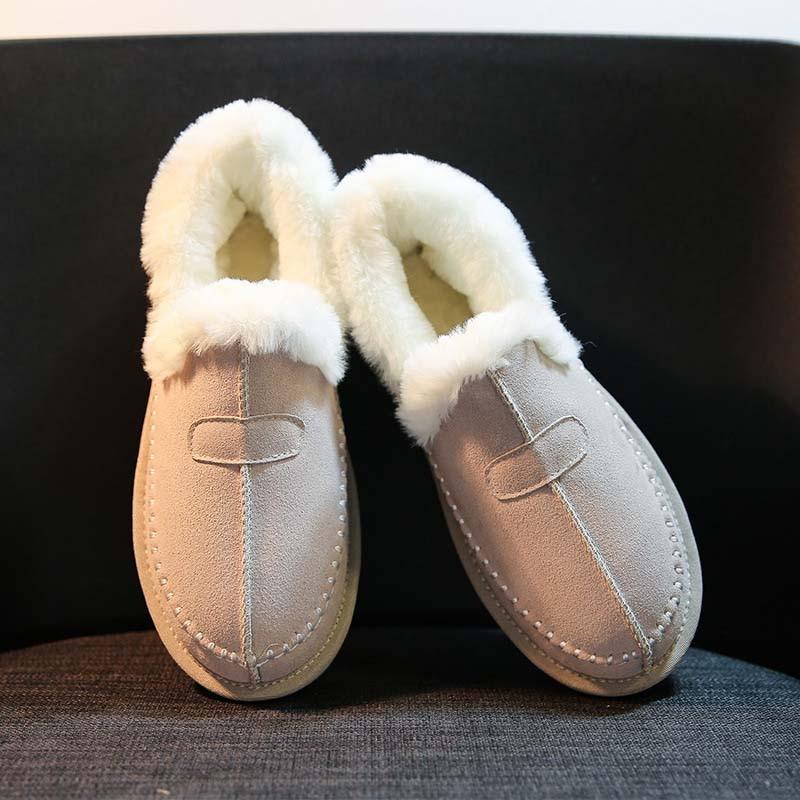 Marca Botines negro Caliente Real Beige Invierno 2018 marrón Nieve Mujer Chaussure Zapatos De Casual Moda Calzado Cuero Señora Botas fOZCTqw
