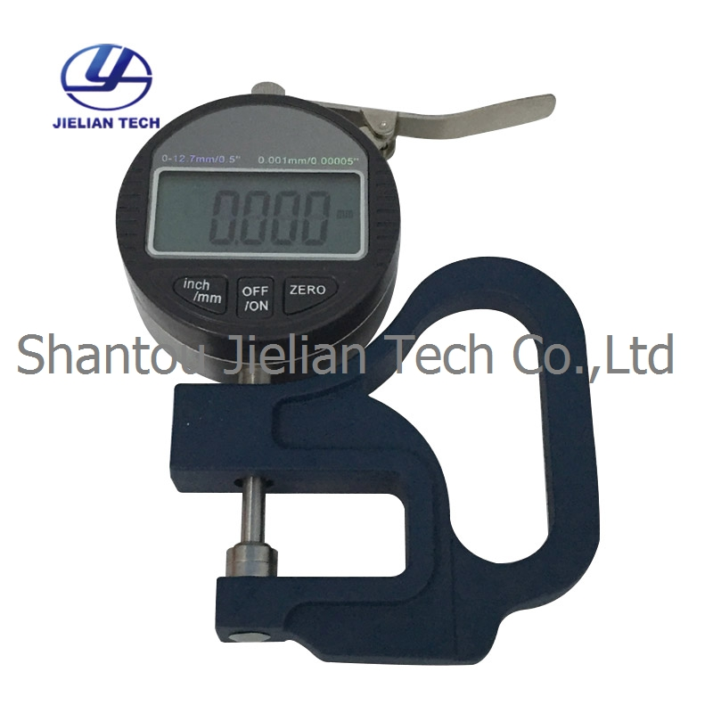 0 12 7mm Digital Display Micrometer Thickness Gauge Division Value 0 001mm BY01 for paper film in Tool Parts from Tools