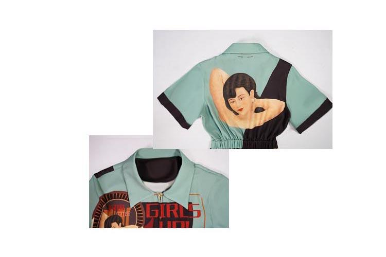 Apparel - Retro Rockabilly Jumpsuit Elastic Waist Vogue Hipster Rompers Short Sleeve