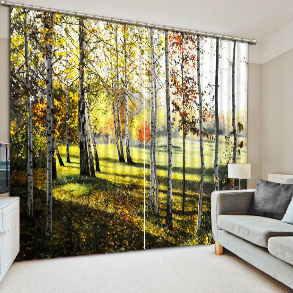 tree curtain 3D Blackout Curtains For Living room Bedding room forest curtains tree curtain 3D Blackout Curtains For Living room Bedding room forest curtains