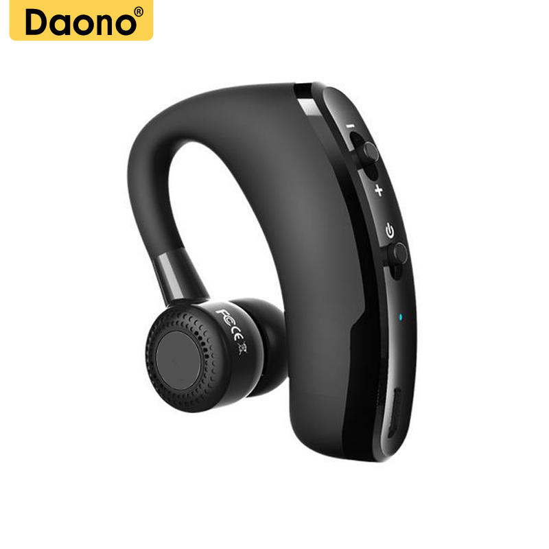 DAONO V9 Handsfree Bluetooth Headset Earphone Wireless Voice Control Sports Music Bluetooth Headphones Noise Cancelling Headset bq 618 wireless bluetooth v4 1 edr headset support handsfree earphone with intelligent voice navigation for cellphones tablet