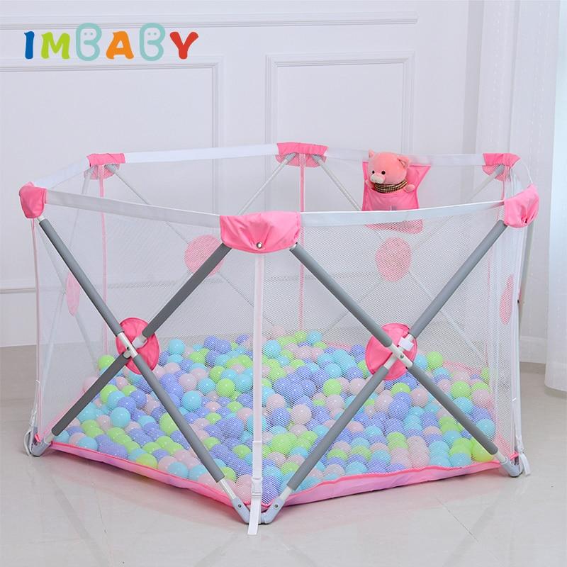IMBABY Playpen for Children Playpen Baby Fence Safety Barrier For Children Playpen Newborns Game Balls Pool