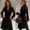 Женские Зимние Куртки и Пальто Одной Кнопки Элегантный Теплые Женщины Шерстяные Смеси Сгущает Длинные Плюс Размер Женщин Пальто