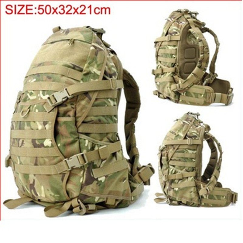 Tactical Assault Backpack Outdoor Camping Travel Mountaineering Bag Airsoft Mole Back Pack Free Shipping woodland camo unisex tactical assault backpack camping travel bag multicam combination mountaineering shoulders backpack