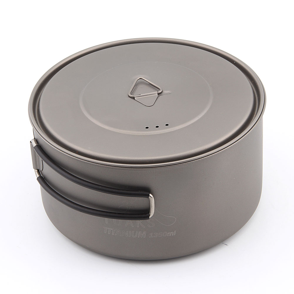 TOAKS POT-1350 Ultralight Titanium 1350ml Pot with Bail Handle Outdoor Camping Tableware k1 rizoma k1 bws