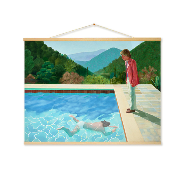 593d8252879e David Hockney Hanging Scroll pintura lienzo carteles e impresiones arte de la  pared cuadros para la sala de decoración nórdica hogar