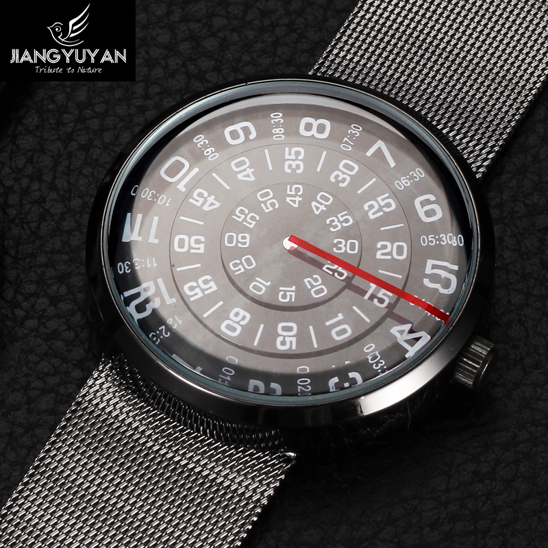 Future Fashion Watch Top Luxury Brand Watches Men Stainless Steel Strap Quartz Watch Ultra Thin Dial Clock Man Relogio Masculino mcykcy fashion top luxury brand watches men quartz watch stainless steel strap ultra thin clock relogio masculino 2017 drop 20