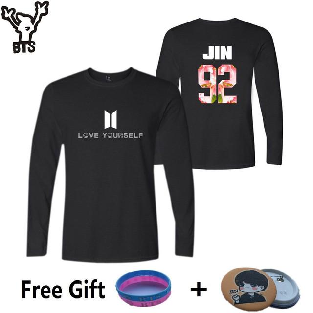 BTS Love Yourself Logo Crewneck Sweater Sweatshirt Pullover Longsleeve1