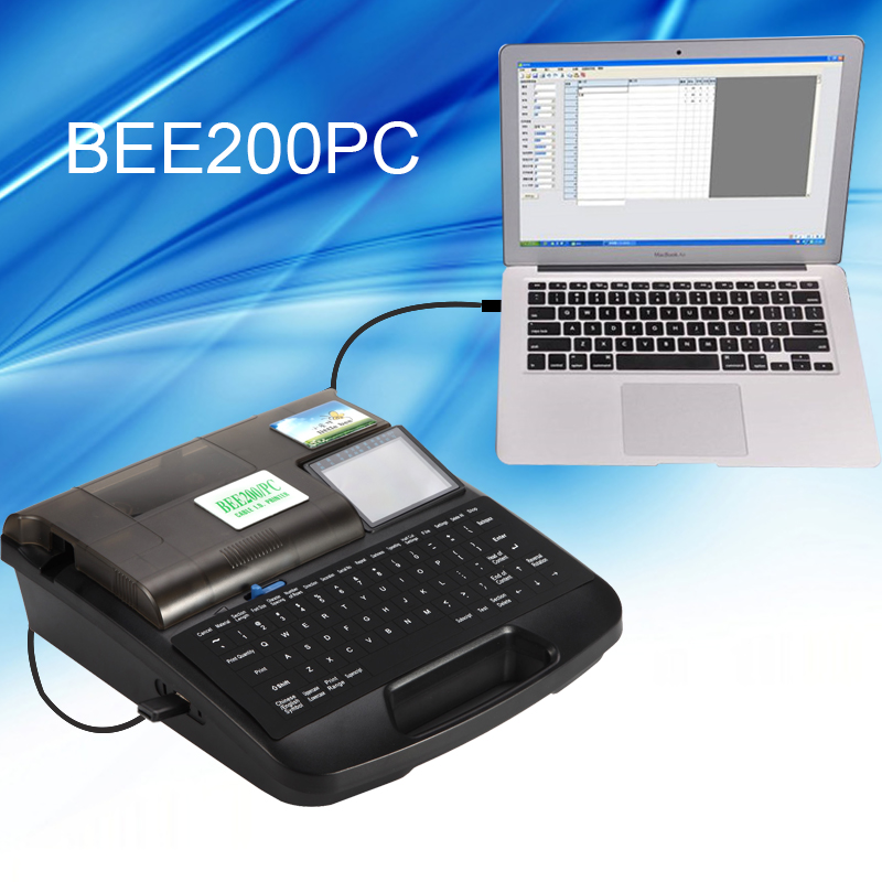 BEE200PC cable ID pritner Electrical wire marker Wire printer tube printing machine ferrule printing machine
