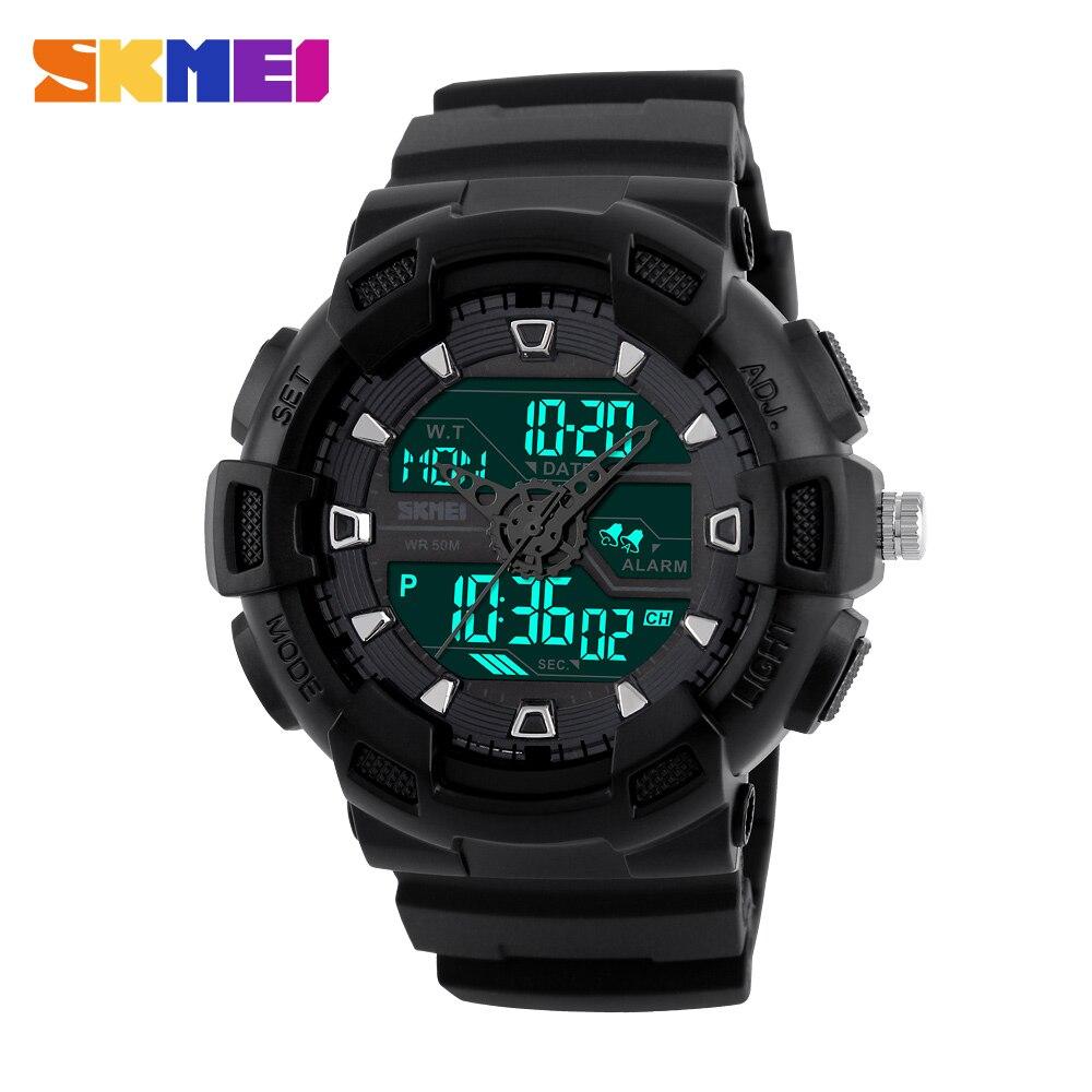 1dfa93deb34 SKMEI Homens Relógio Digital Multifunções LEVOU À Prova D  Água Esportes  Militares Relógios Dual Time