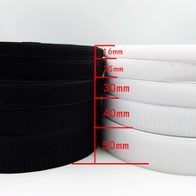 16/25/30/40/50/100mm*1m/Pair Black White Magic Tape Hook and Loop Self Adhesive Fastener Tape Strip No Glue Sewing Accessory 2 5cm 5m pairs black white magic tape hook and loop self adhesive fastener tape strip with strong glue for home supplies
