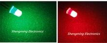 100PCS 5mm Dual Bi Farbe Polar Verändernden Rot/Grün Diffuse Led Leds 2-Pin led